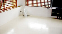 Private residence with 4 dimensions of Shikkui Plaster on walls and ceiling, shikkui tiles on the floor